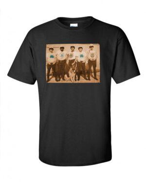 Hippo-Tees Five Star, black tee-shirt