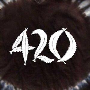 Hippo-Tees Night Tie Dye 420 Womens tee shirt