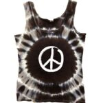 Hippo-Tees Night Tie Dye Peace Sign tank tee shirt