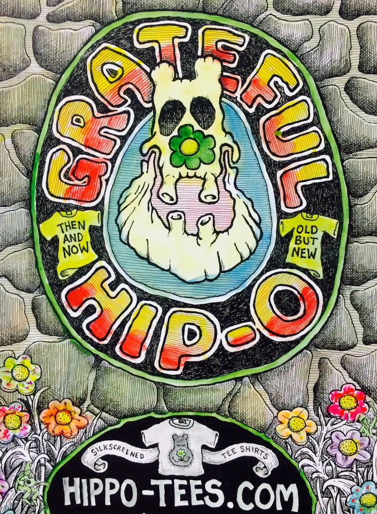 Hippo-Tees Grateful Hippo Poster