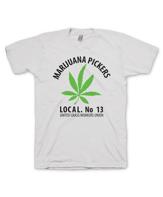 marijuana tee, Marijuana Pickers tee shirt, stoner, hippy, 420