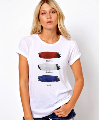 Woman's Doobie Doo tee shirt by Hippo-Tees